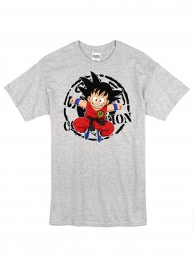 """T-Shirt Logo """"Scred Goku"""" Gris"""