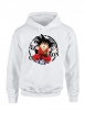 "Sweat Capuche ""Scred Goku"" Blanc"