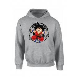 "Sweat Capuche ""Scred Goku"" Gris"