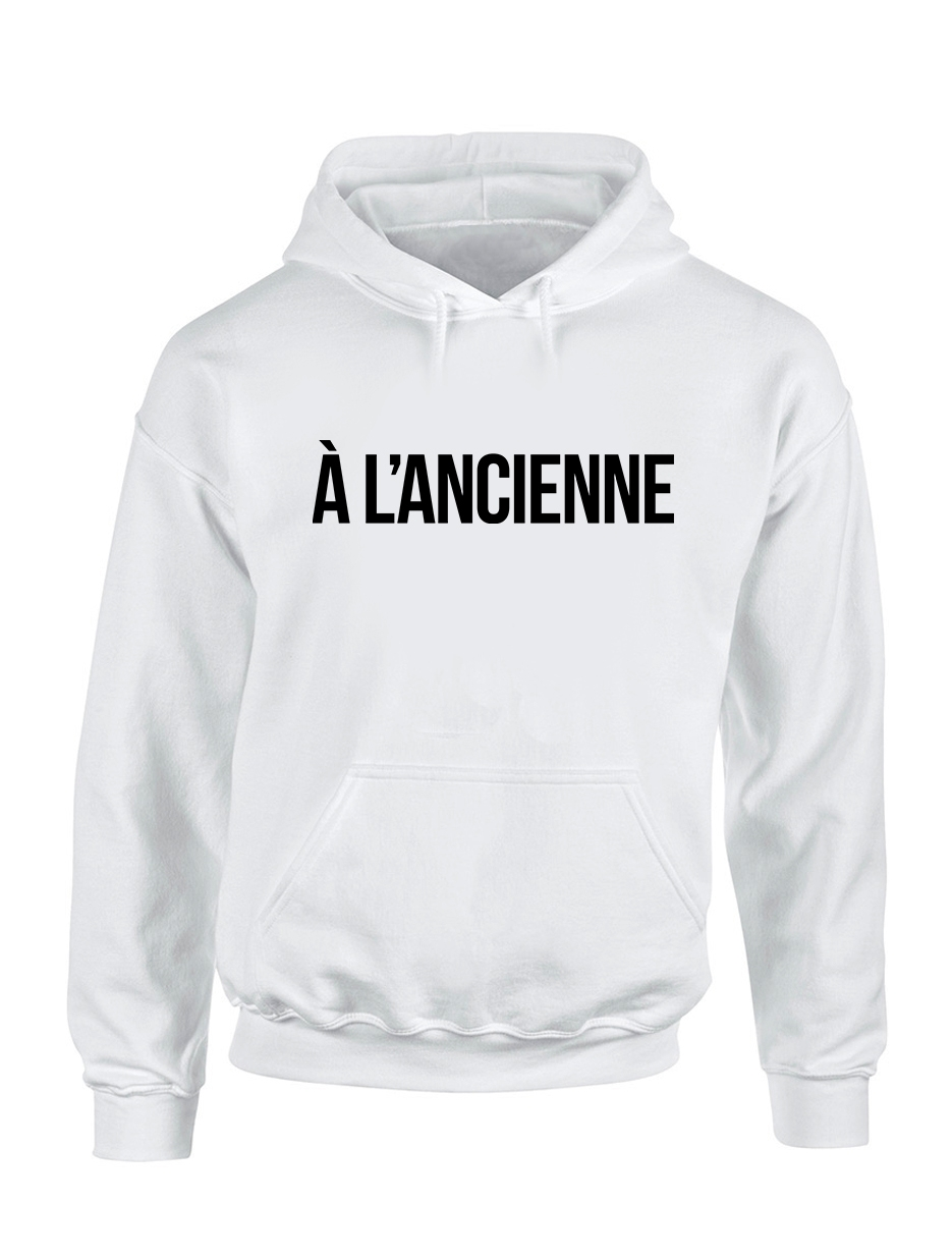 "Sweat Capuche ""A L'ancienne"" Blanc"