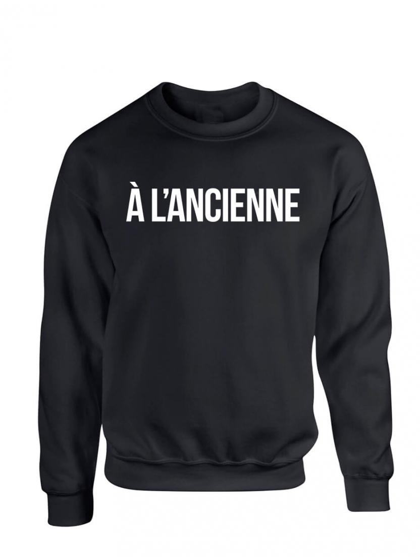 """Sweat """"A L'ancienne"""" Noir"""