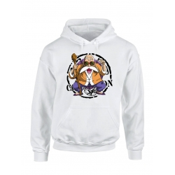 "Sweat Capuche ""Tortue2"" Blanc"