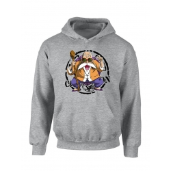 "Sweat Capuche ""Tortue2"" Gris"