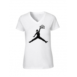 "T-Shirt Femme Logo ""Air Scred"" Blanc"