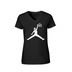 "T-Shirt Femme Logo ""Air Scred"" Noir"