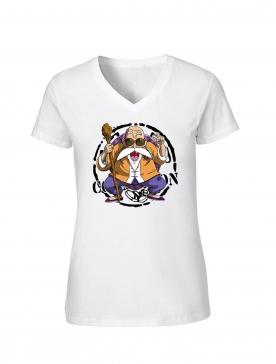 """T-Shirt Femme Logo """"Tortue 2"""" Blanc"""