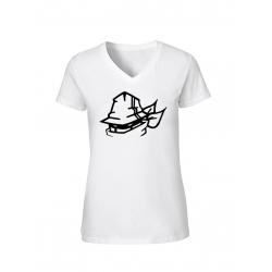 "T-Shirt Femme Logo ""Tête Marche en Scred"" Blanc"