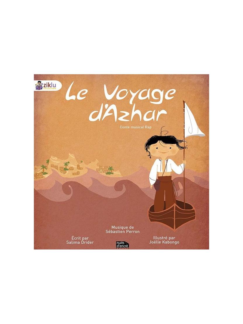 """Livre + cd conte musical rap """"Le voyage d'Azhar"""""""