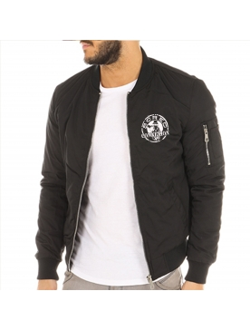 Bombers noir Scred Connexion classic logo blanc