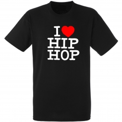 "tee-shirt noir ""I love hip hop"""