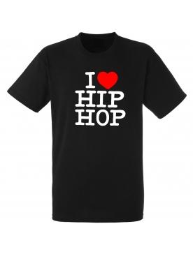 """tee-shirt noir """"I love hip hop"""""""