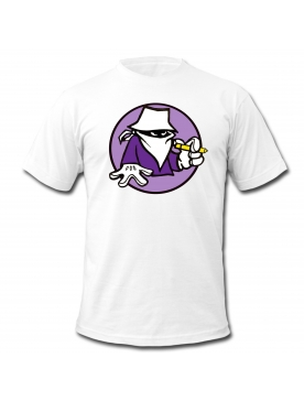 "Tee Shirt blanc "" Scred Evolution Violet """