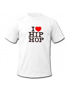"""tee-shirt blanc """"I love hip hop"""""""