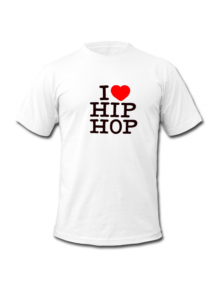 "tee-shirt blanc ""I love hip hop"""