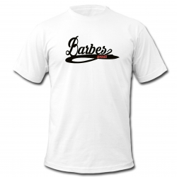 "tee shirt ""Barbès wear "" blanc logo noir"