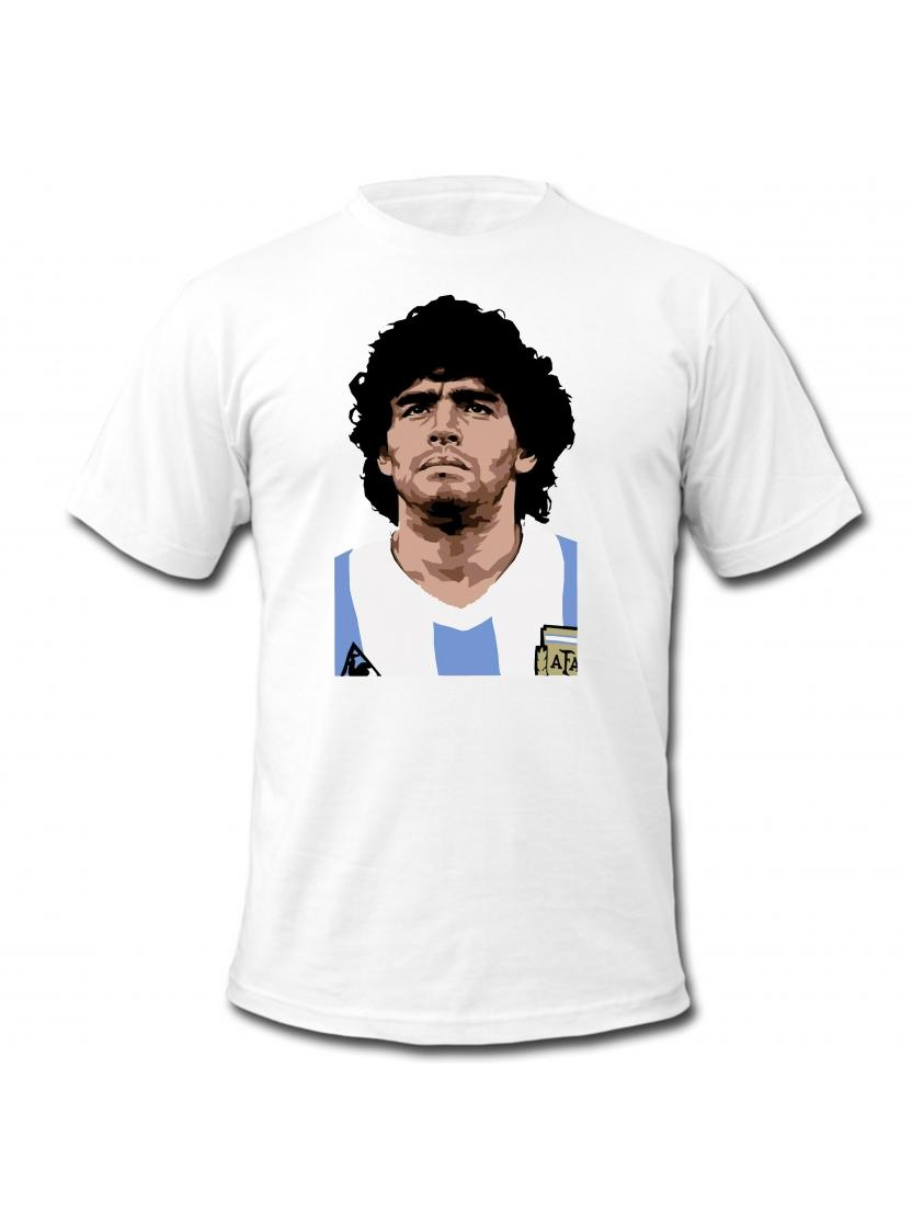 "tee shirt "" DIEGO"" blanc"