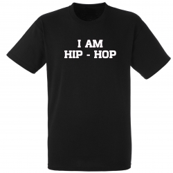 "tee-shirt ""I am hip hop"" noir"
