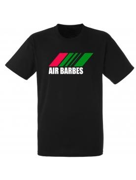 """tee shirt """"Air Barbès"""" noir logo rouge et vert"""