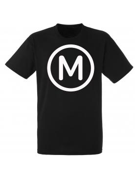 """tee shirt """"Metro """" noir logo blanc"""