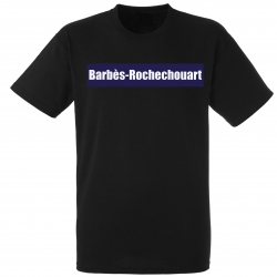 "tee shirt ""station Barbès"" noir"