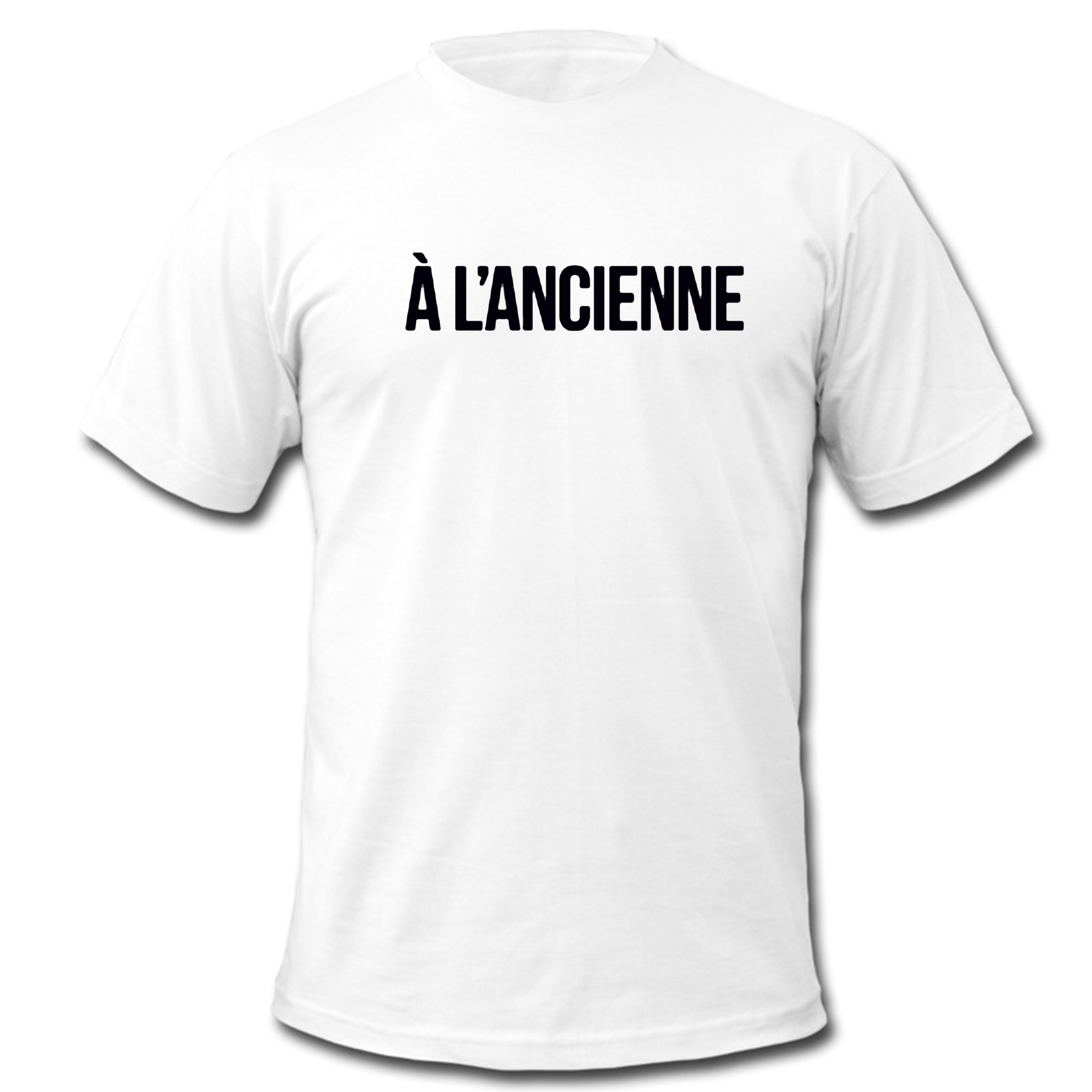 "T-Shirt Logo ""A l'ancienne"" Blanc"
