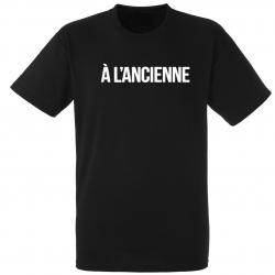 "T-Shirt Logo ""A l'ancienne"" Noir"