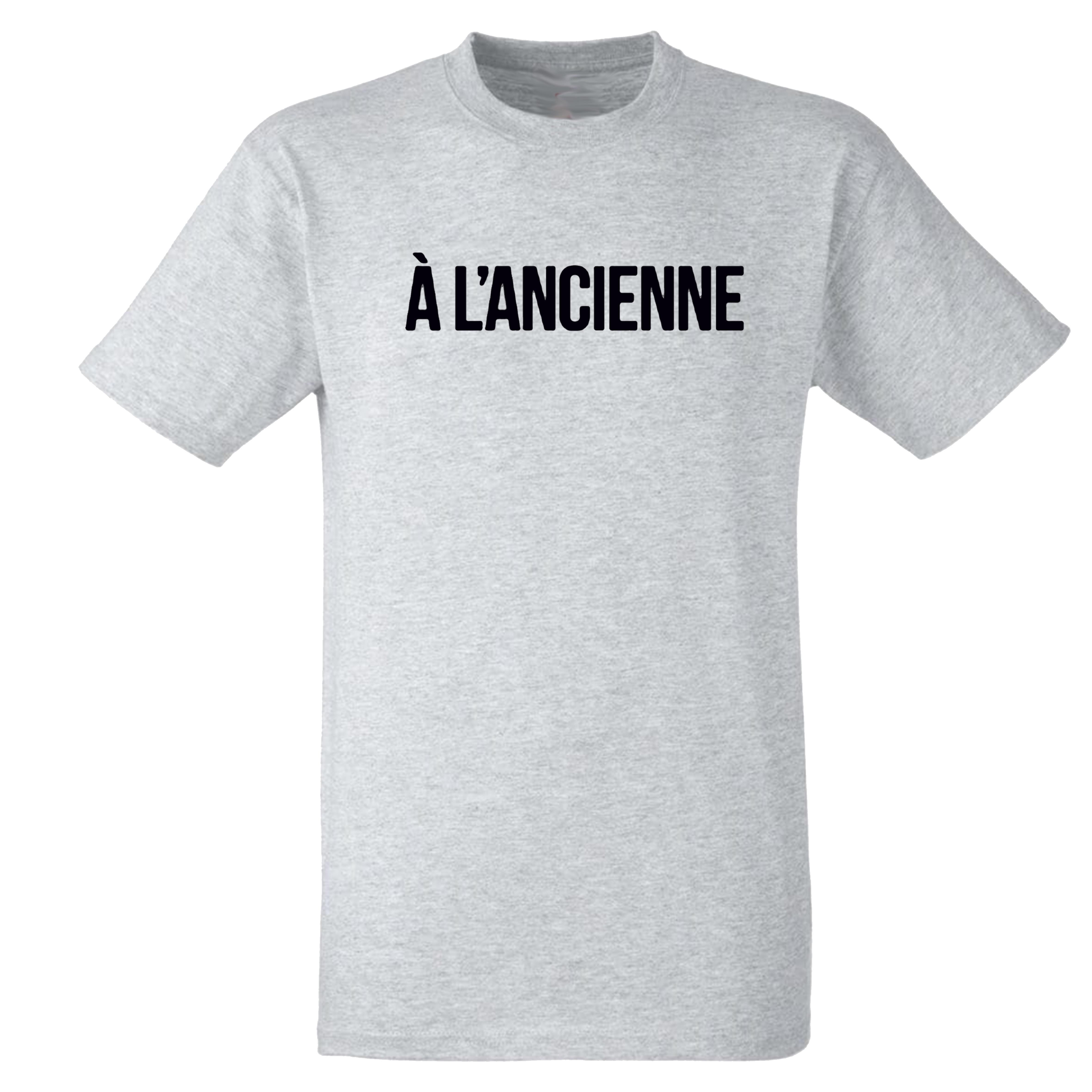 """T-Shirt Logo """"A l'ancienne"""" Gris"""