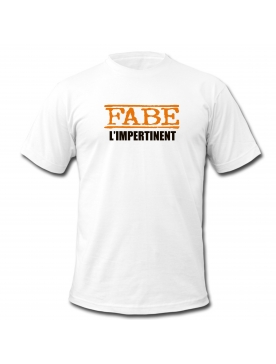 "tee-shirt ""L'impertinent"" blanc"