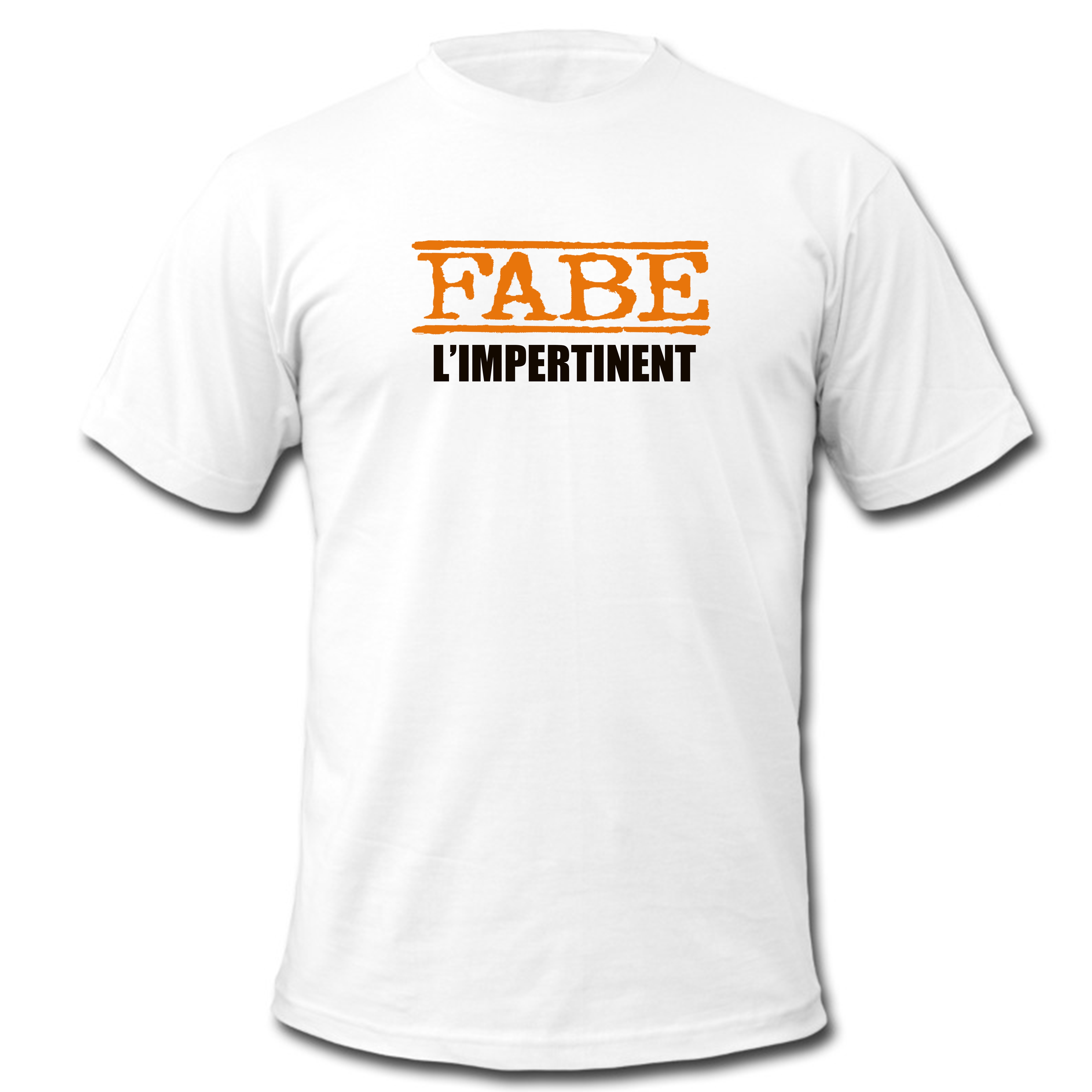 "tee-shirt ""L'impertinent"" blanc"
