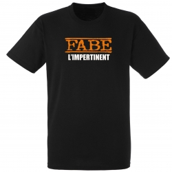 "tee-shirt ""l'impertinent"" noir"