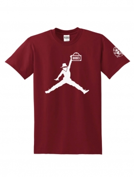 "T-Shirt Logo ""Air Scred"" Burgundy logo blanc"