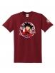 "T-Shirt Logo ""DBSCRED"" Burgundy"