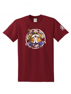 "T-Shirt Logo ""Tortue 2"" Burgundy"