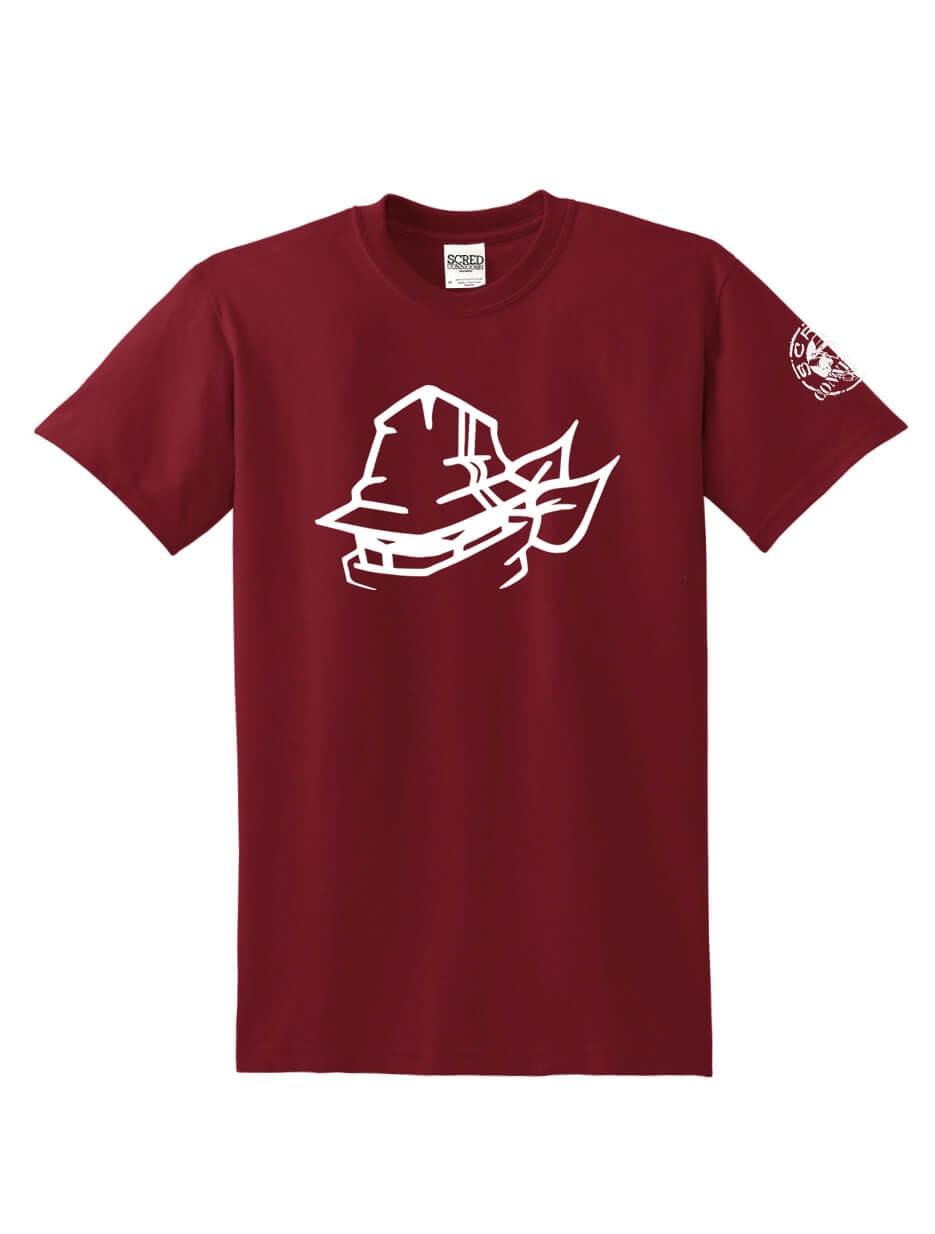 "T-Shirt Logo ""Tête Marche en Scred"" Burgundy"