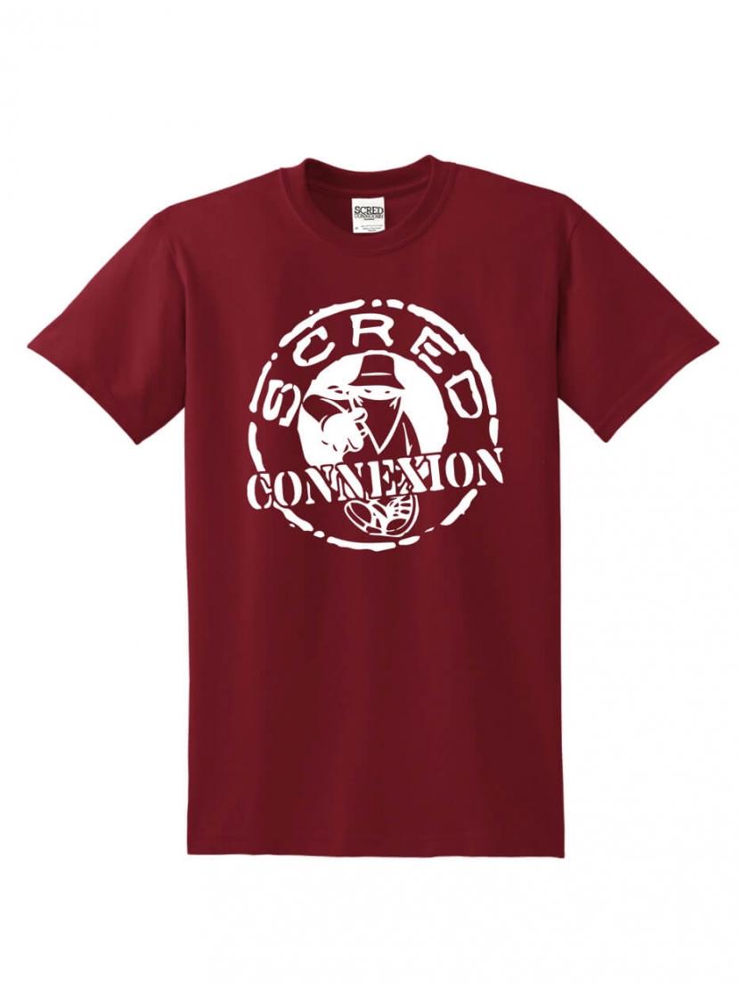 "Tee Shirt ""Classico"" Burgundy logo blanc"