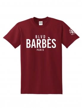 "T -Shirt ""BLVD"" Burgundy"