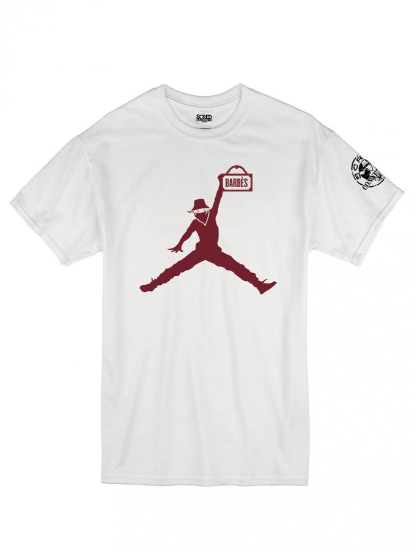 """T-Shirt Logo """"Air Scred"""" blanc logo Burgundy"""