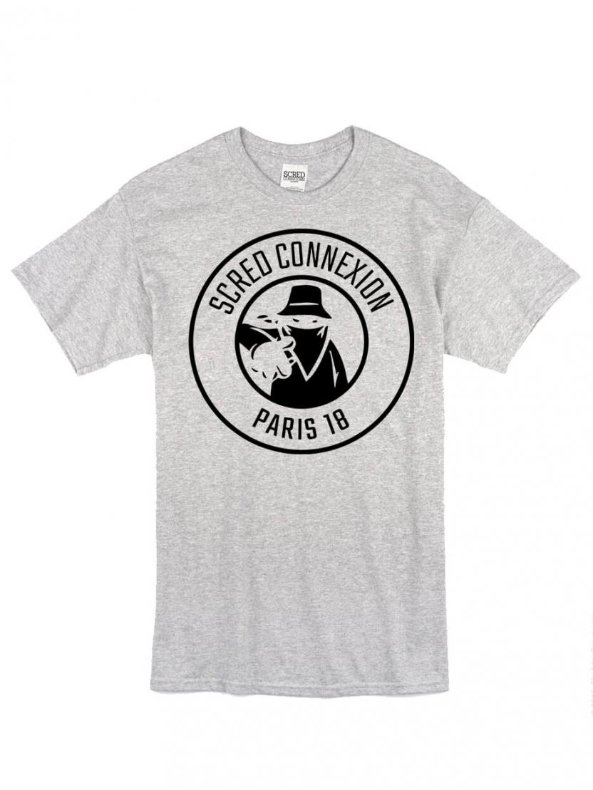 "Tee Shirt ""Classico18"" gris logo Noir"