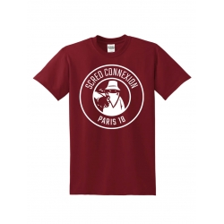 "Tee Shirt ""Classico18"" Burgundy logo Blanc"
