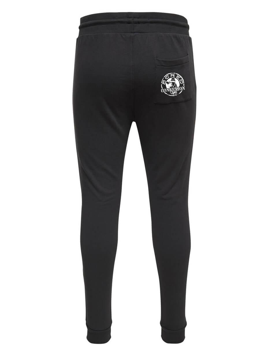 Pantalon de jogging noir ajusté
