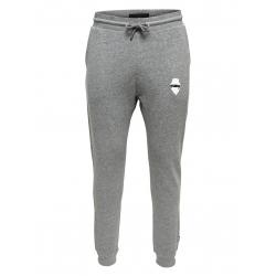 """Pantalon de jogging gris ajusté """"petit visage"""""""
