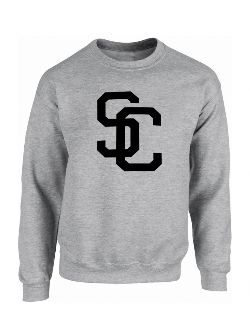"Sweat ""SC"" Gris logo Noir"