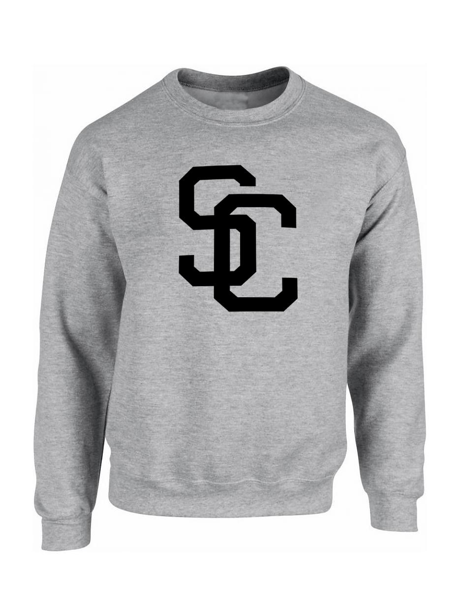 """Sweat """"SC"""" Gris logo Noir"""