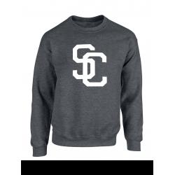 """Sweat """"SC"""" Gris foncé logo blanc"""
