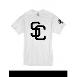 "Tee Shirt ""SC"" blanc logo Noir"