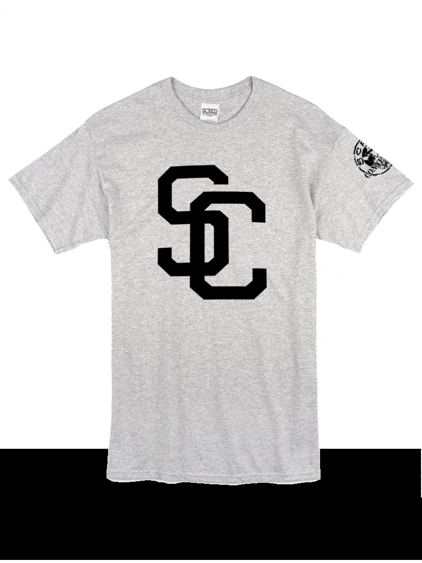 "Tee Shirt ""SC"" gris logo Noir"
