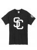 "tee-shirt ""SC"" noir logo blanc"