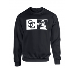 "Sweat Col Rond ""New SC"" Noir Logo Blanc"