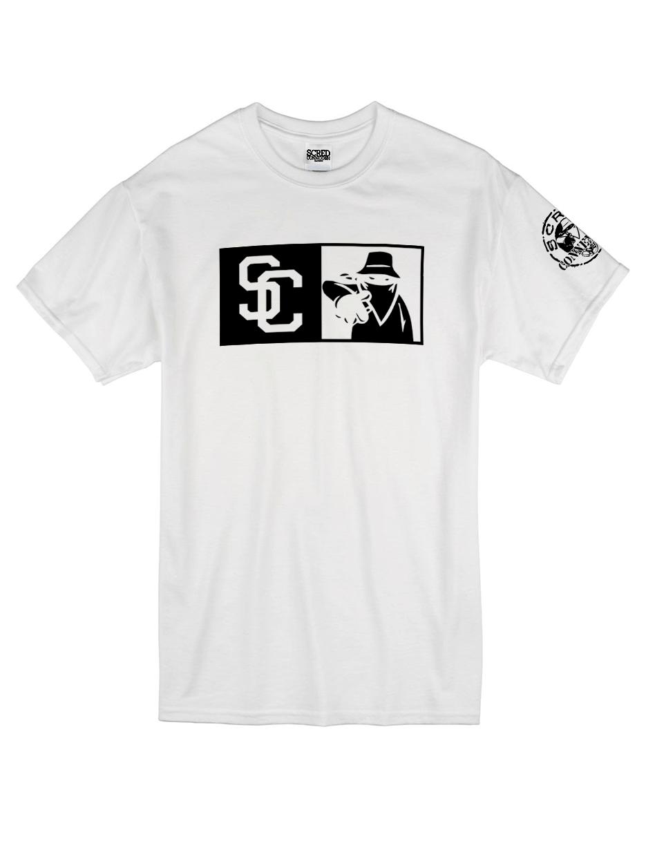 "Tee Shirt ""New SC"" blanc logo Noir"