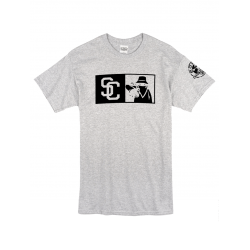 """Tee Shirt """"New SC"""" gris logo Noir"""